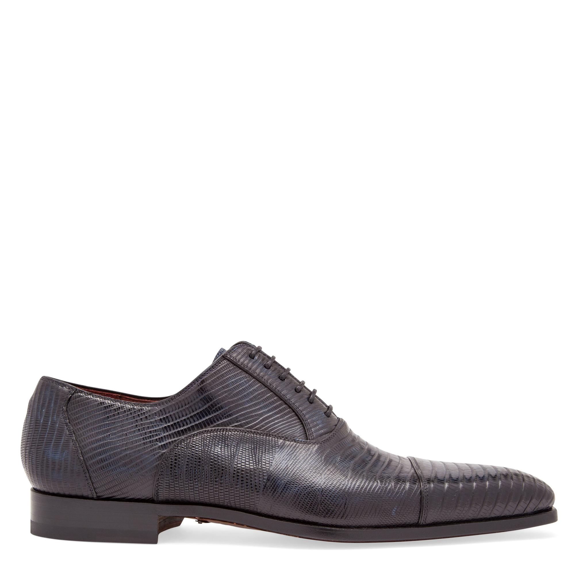 Lizard Oxford lace-up shoes