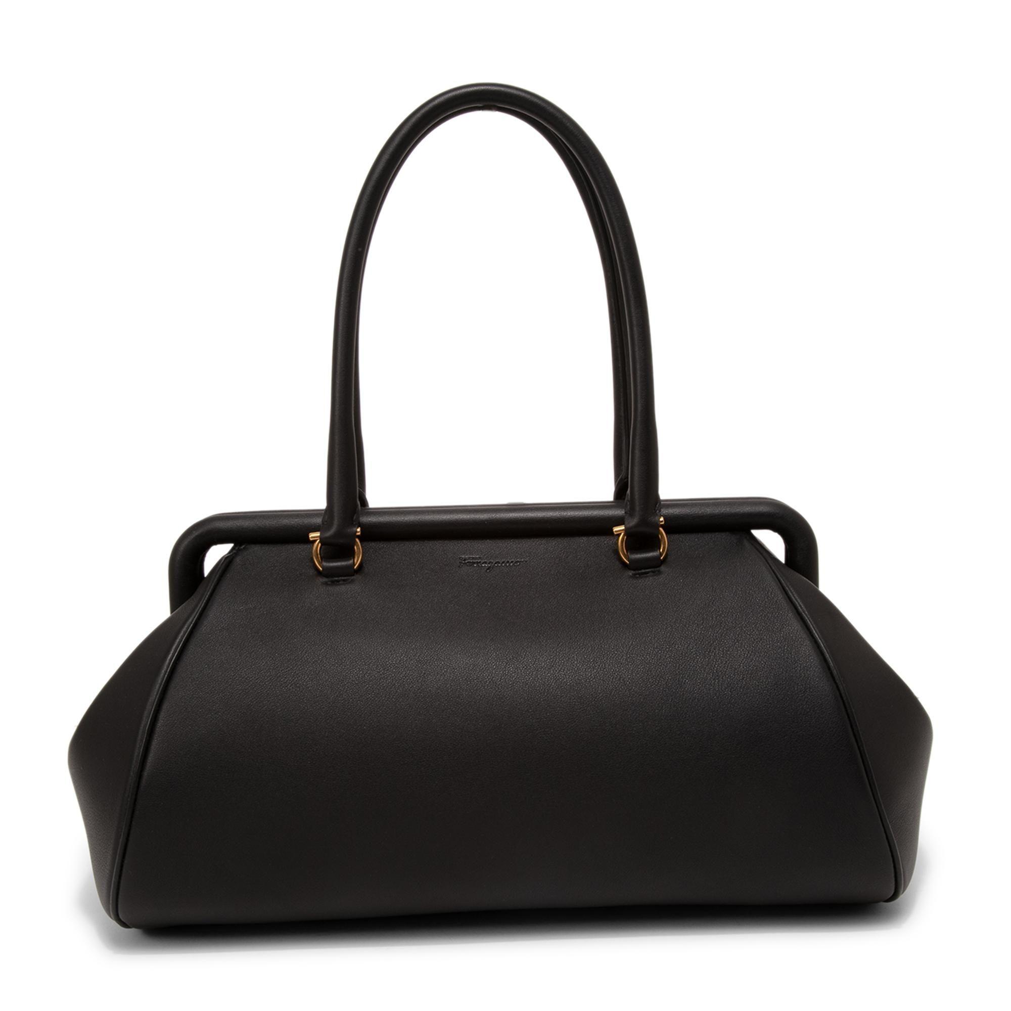 Frame small top handle bag