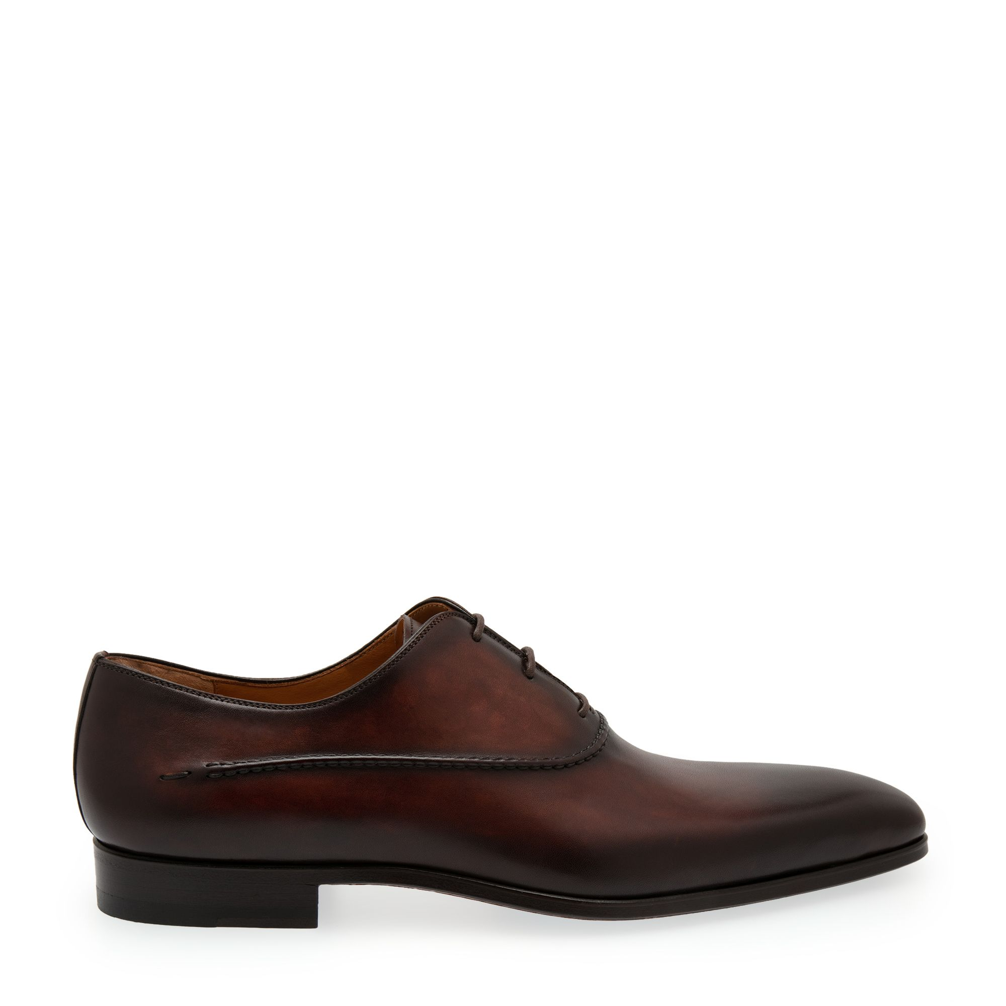Leather oxford lace-up shoes