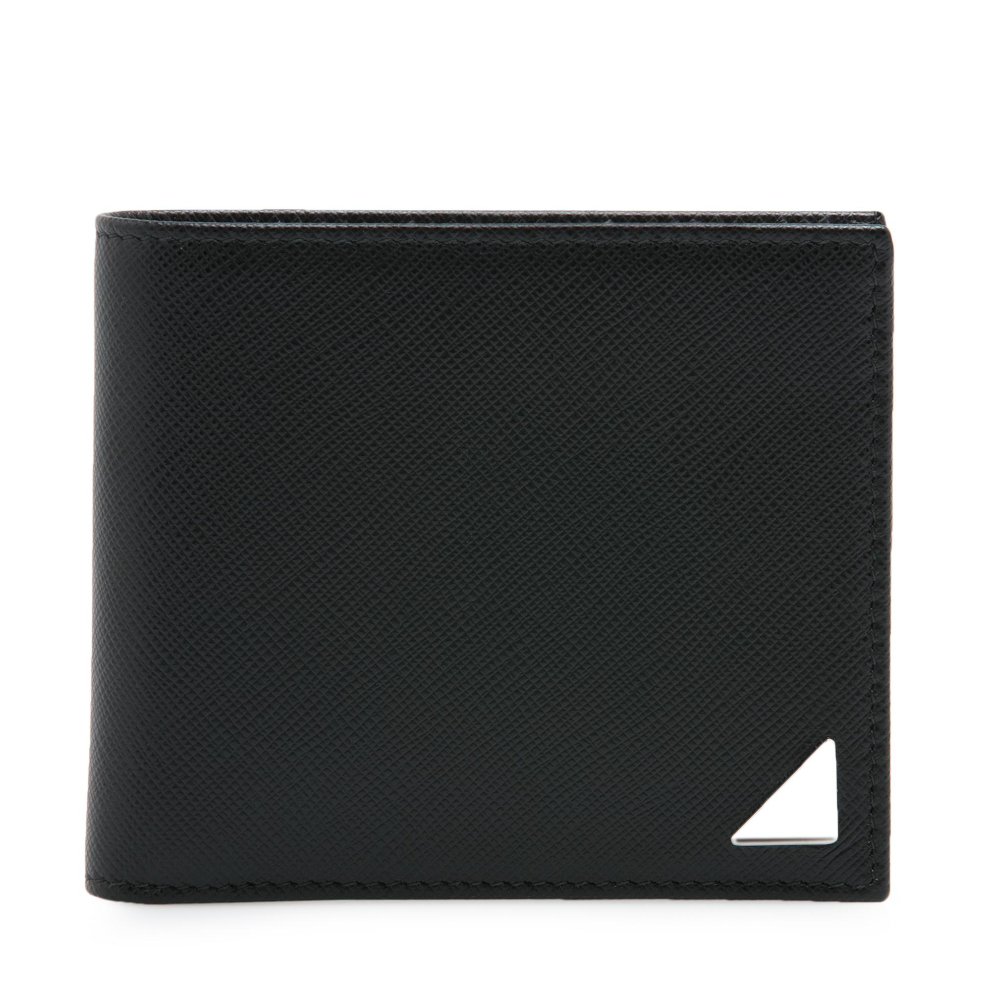Saffiano leather logo wallet