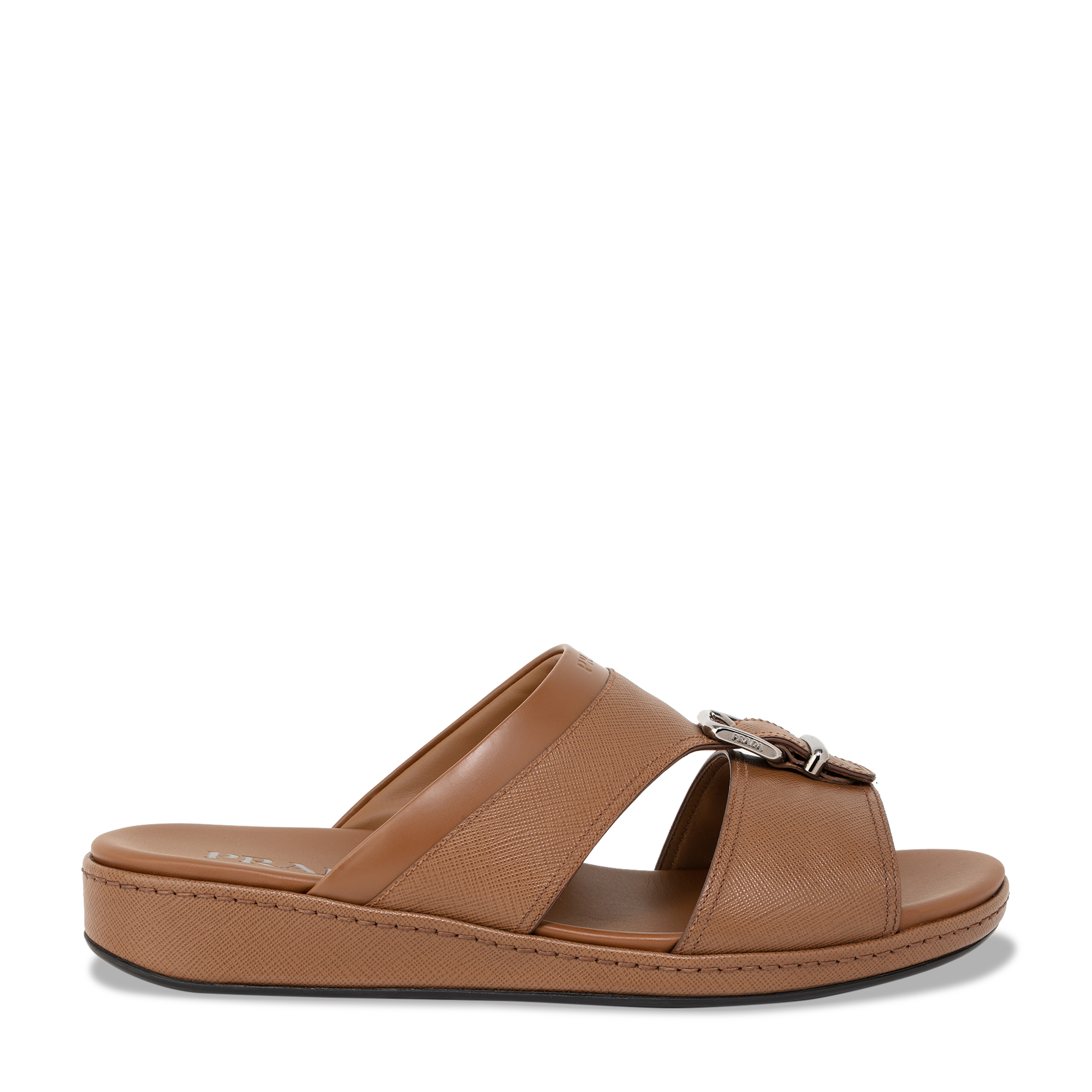 Saffiano leather sandals
