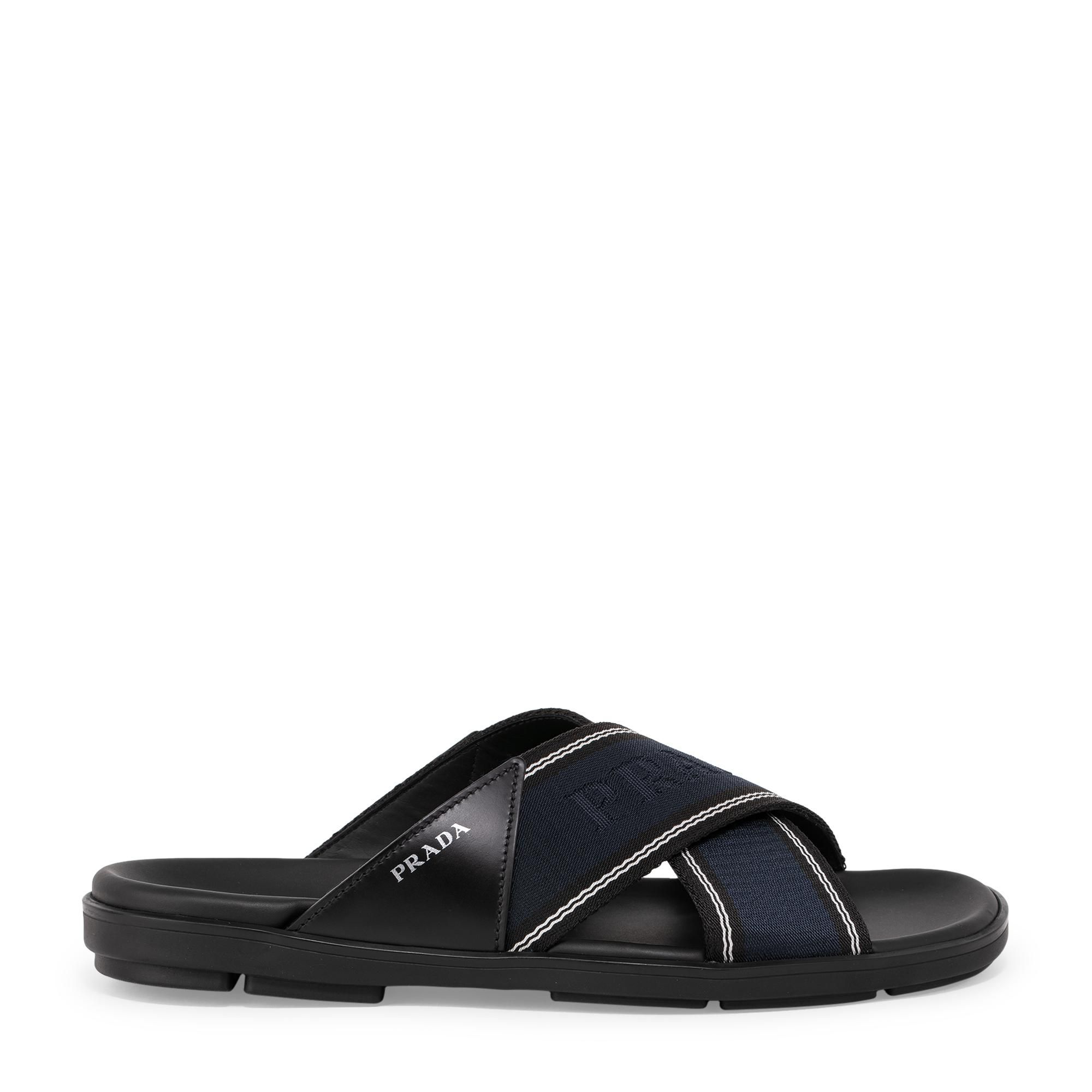 Leather and nylon sandals