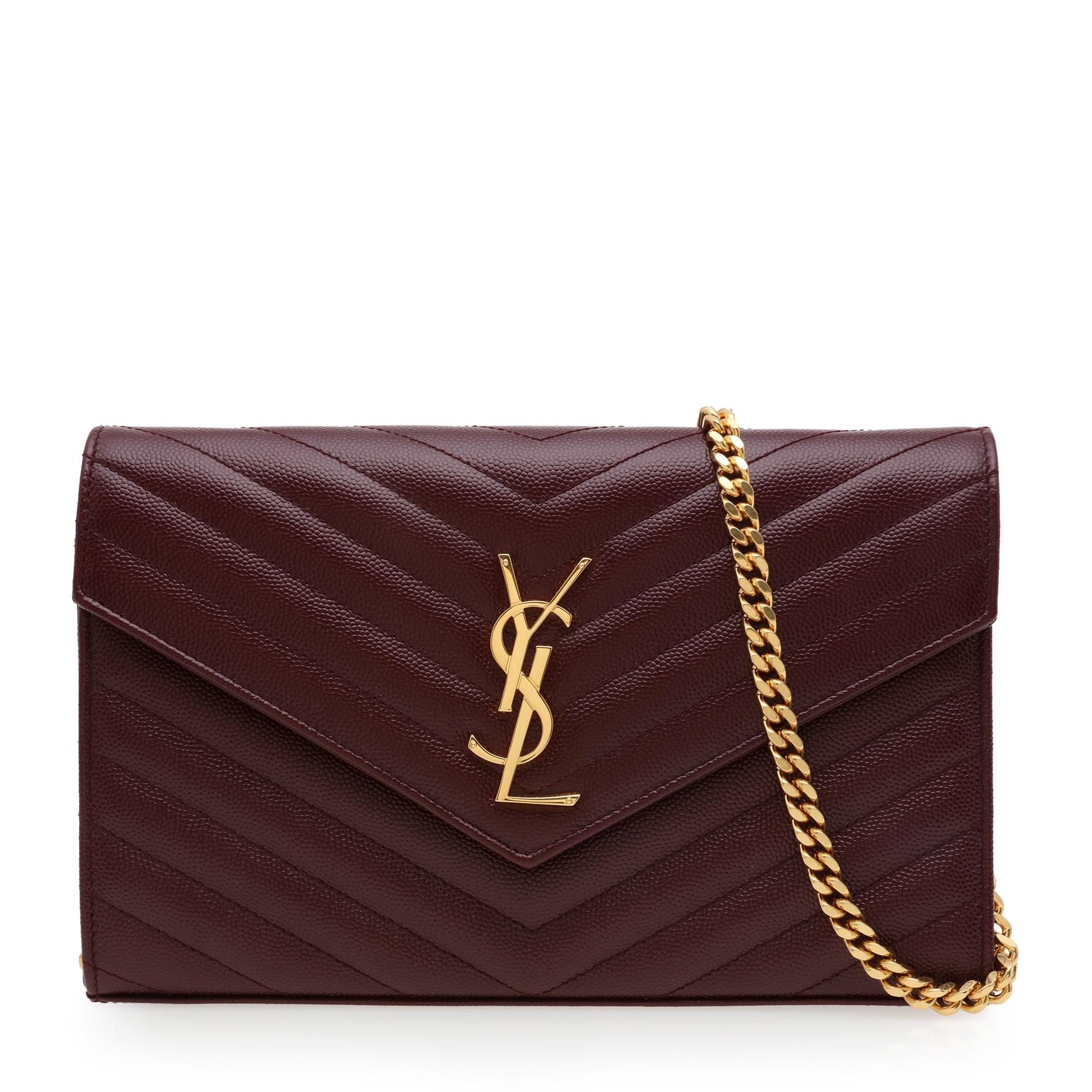 Monogram chain wallet
