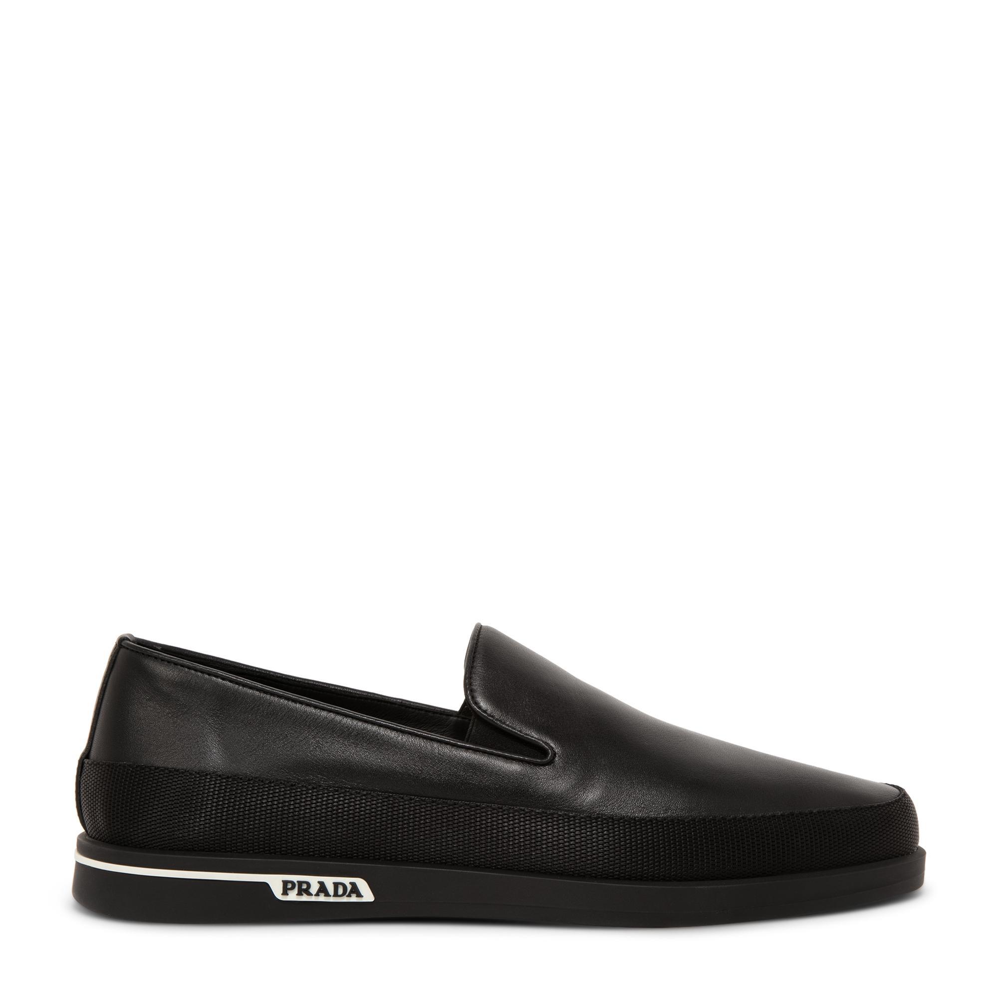 Saint Tropez leather slip-on sneakers