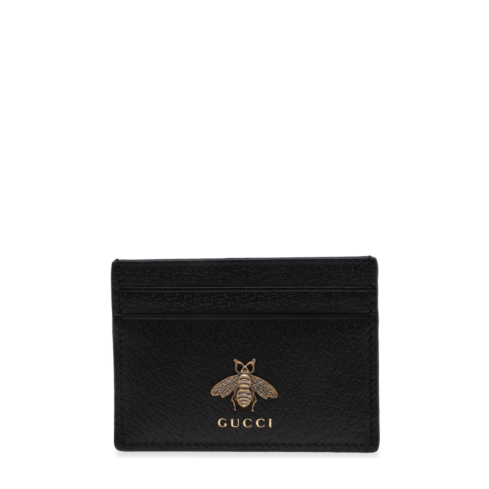 Animalier leather cardholder
