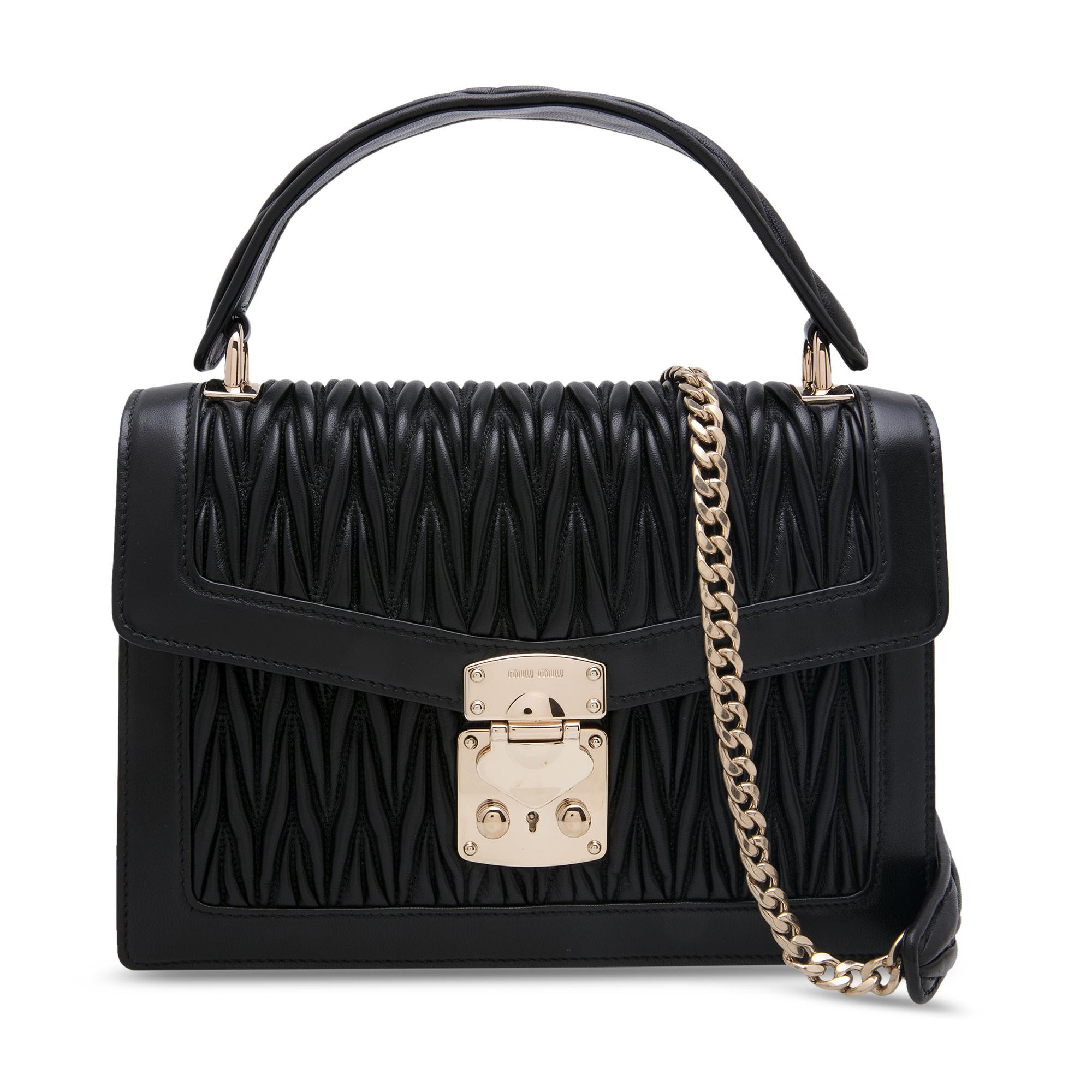 Miu Confidential velvet and ayers bag