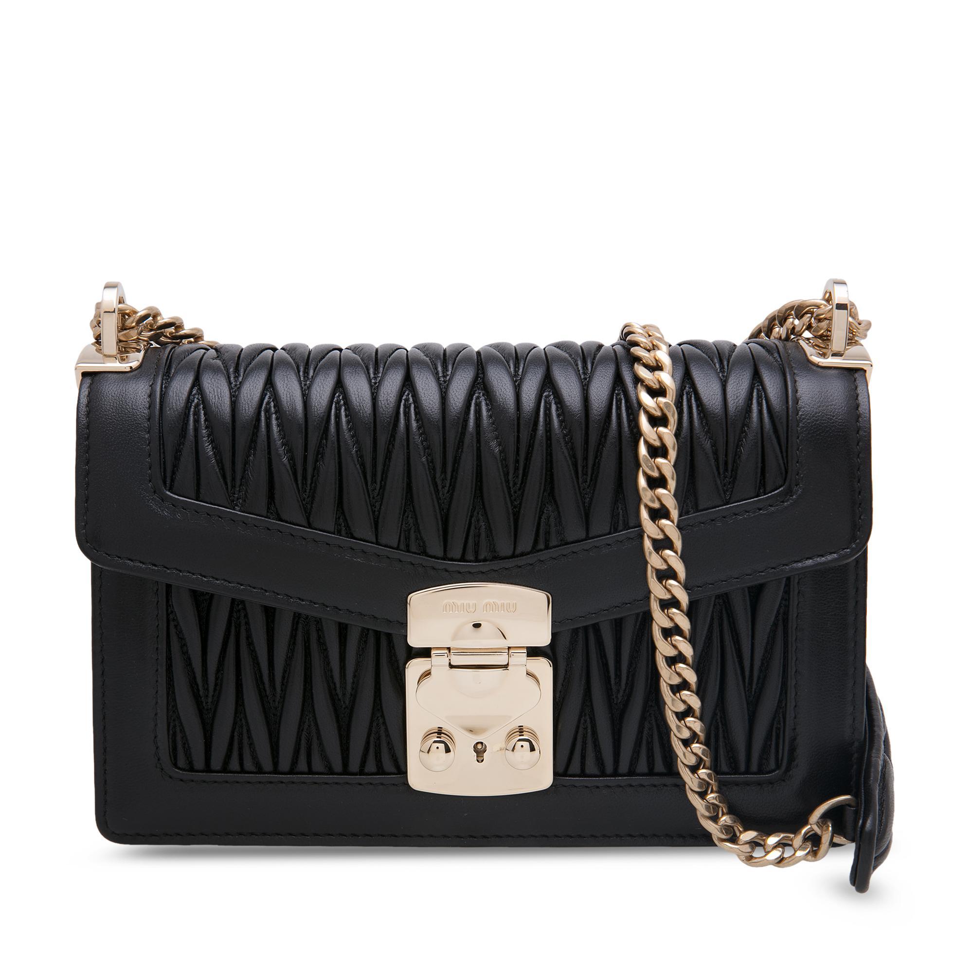 Miu Confidential leather shoulder bag