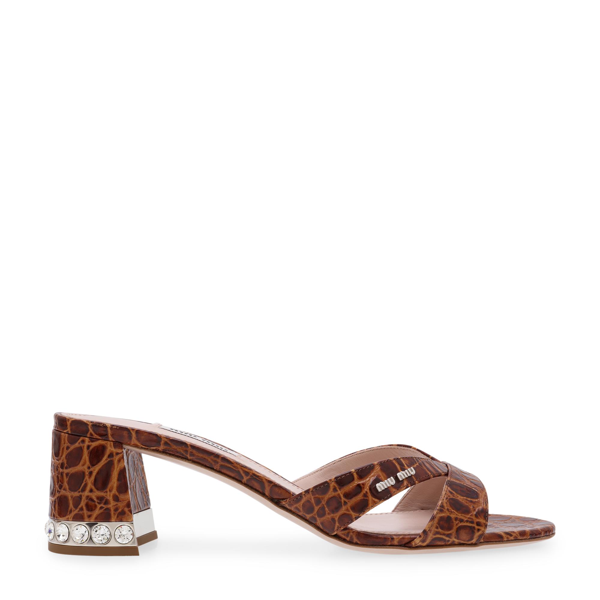 Leather embellished sandals