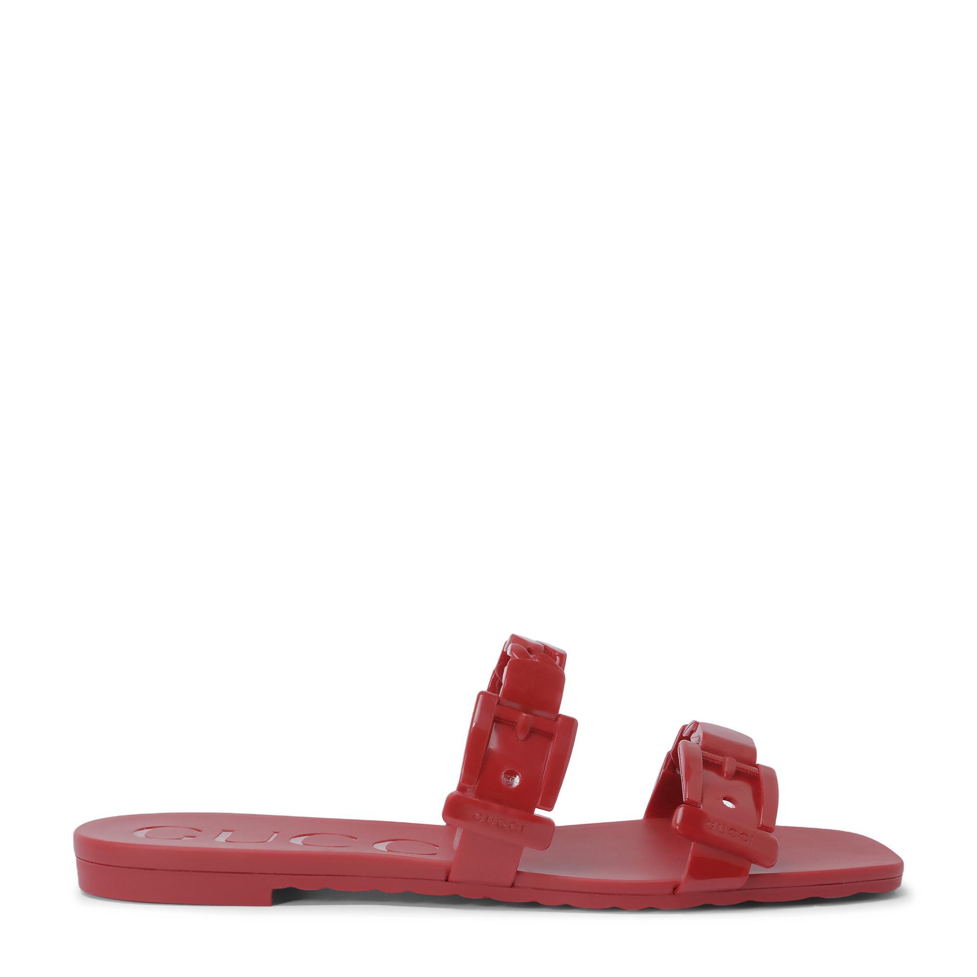 Rubber flat sandals