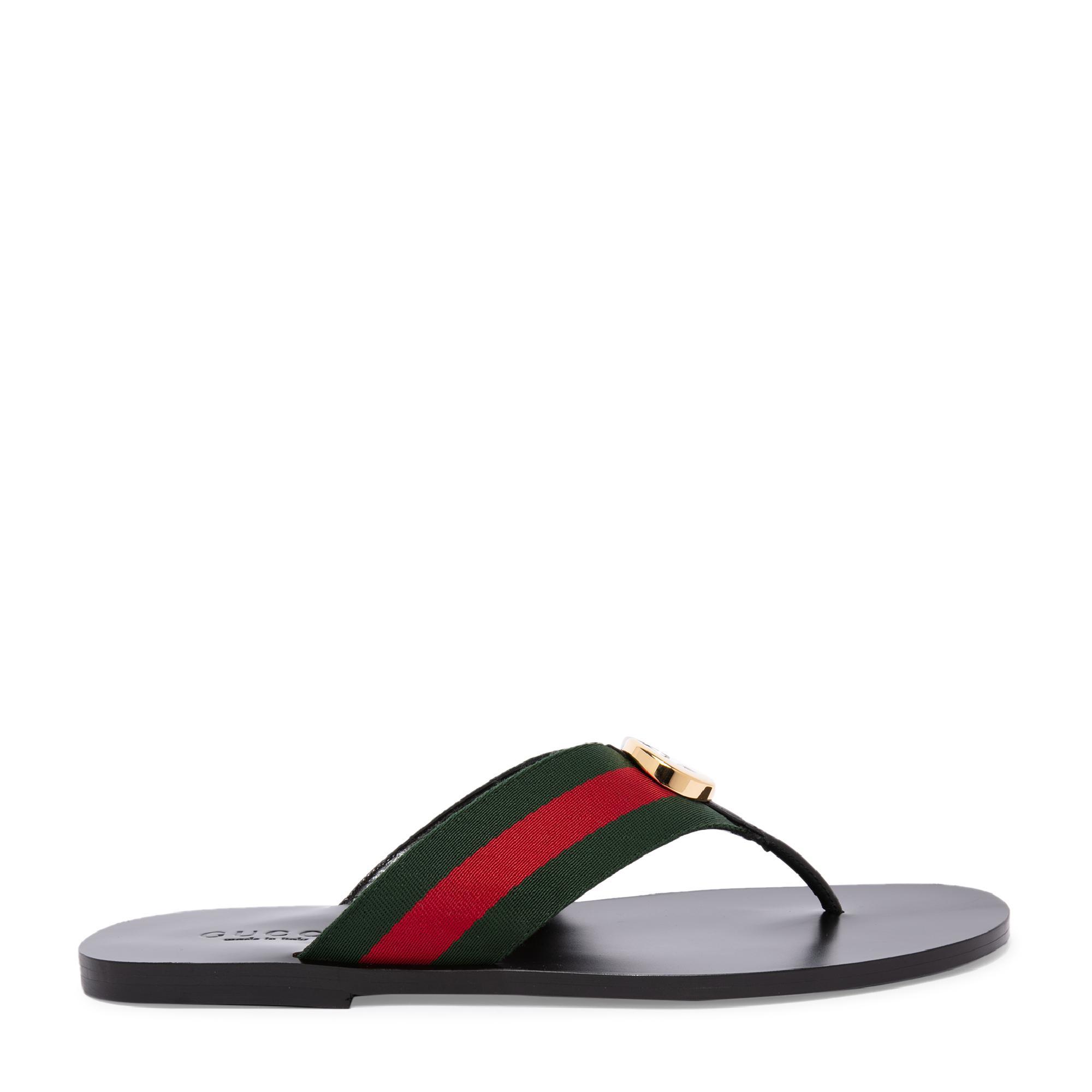 Web strap thong sandals