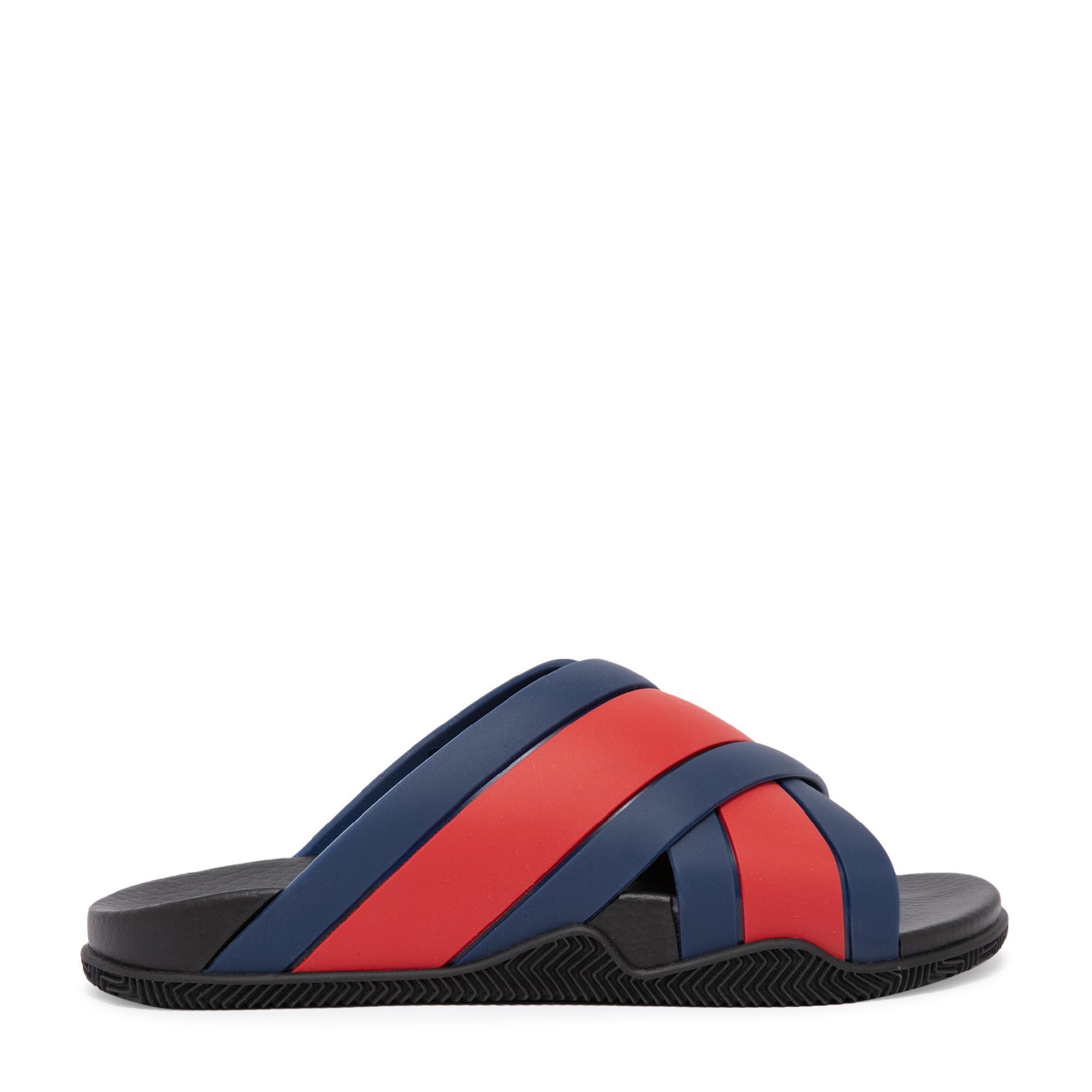 Web rubber sandals