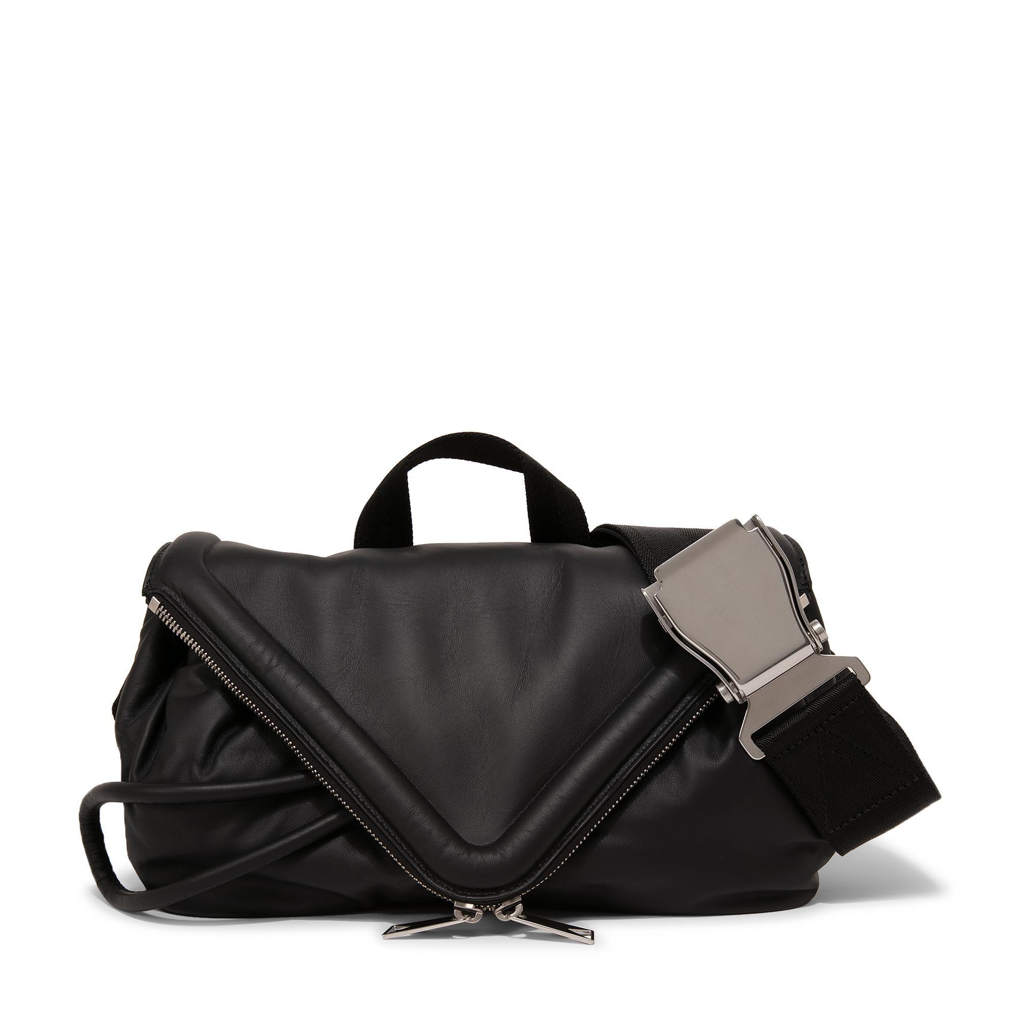 Triangle flap belt bag