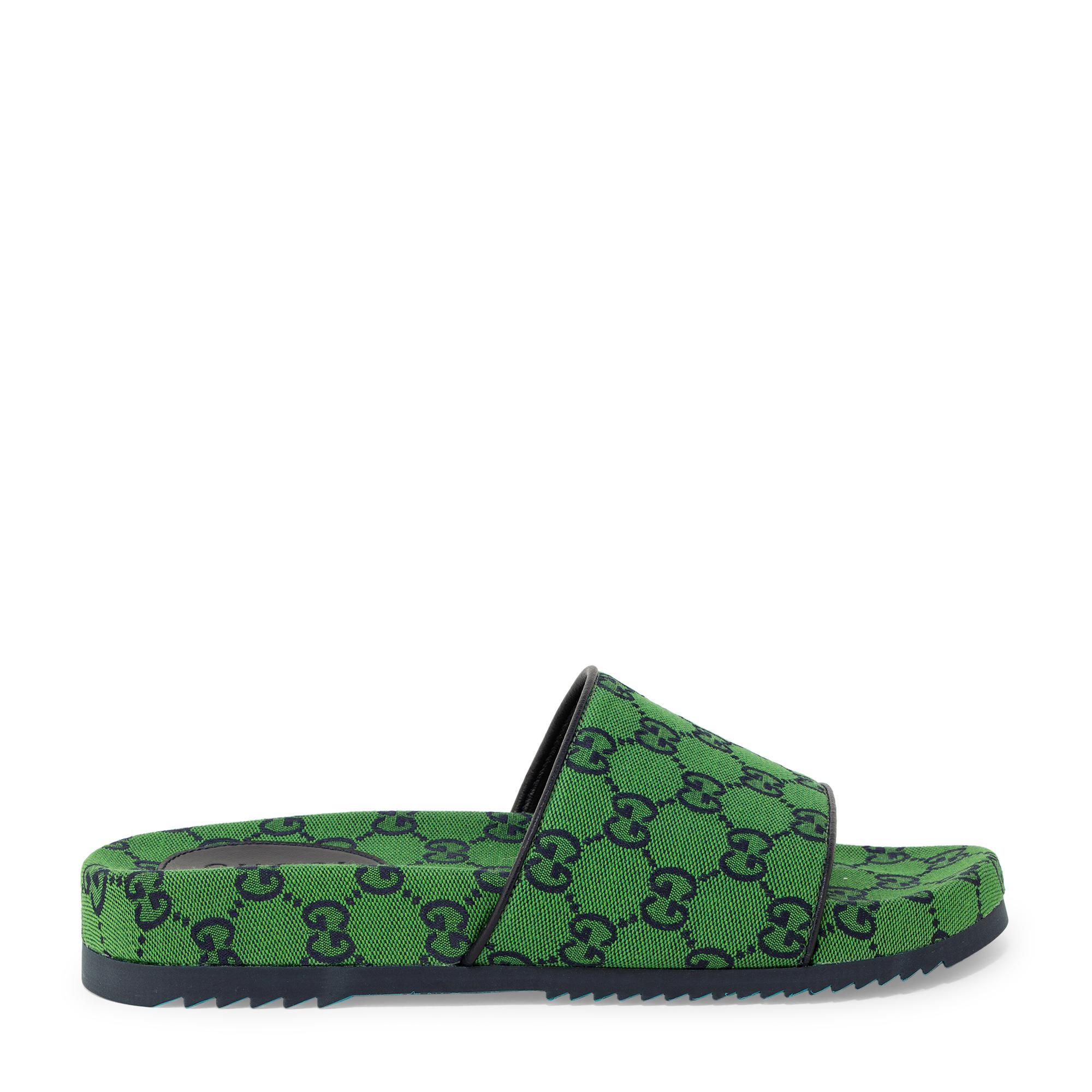 GG fabric slide sandals