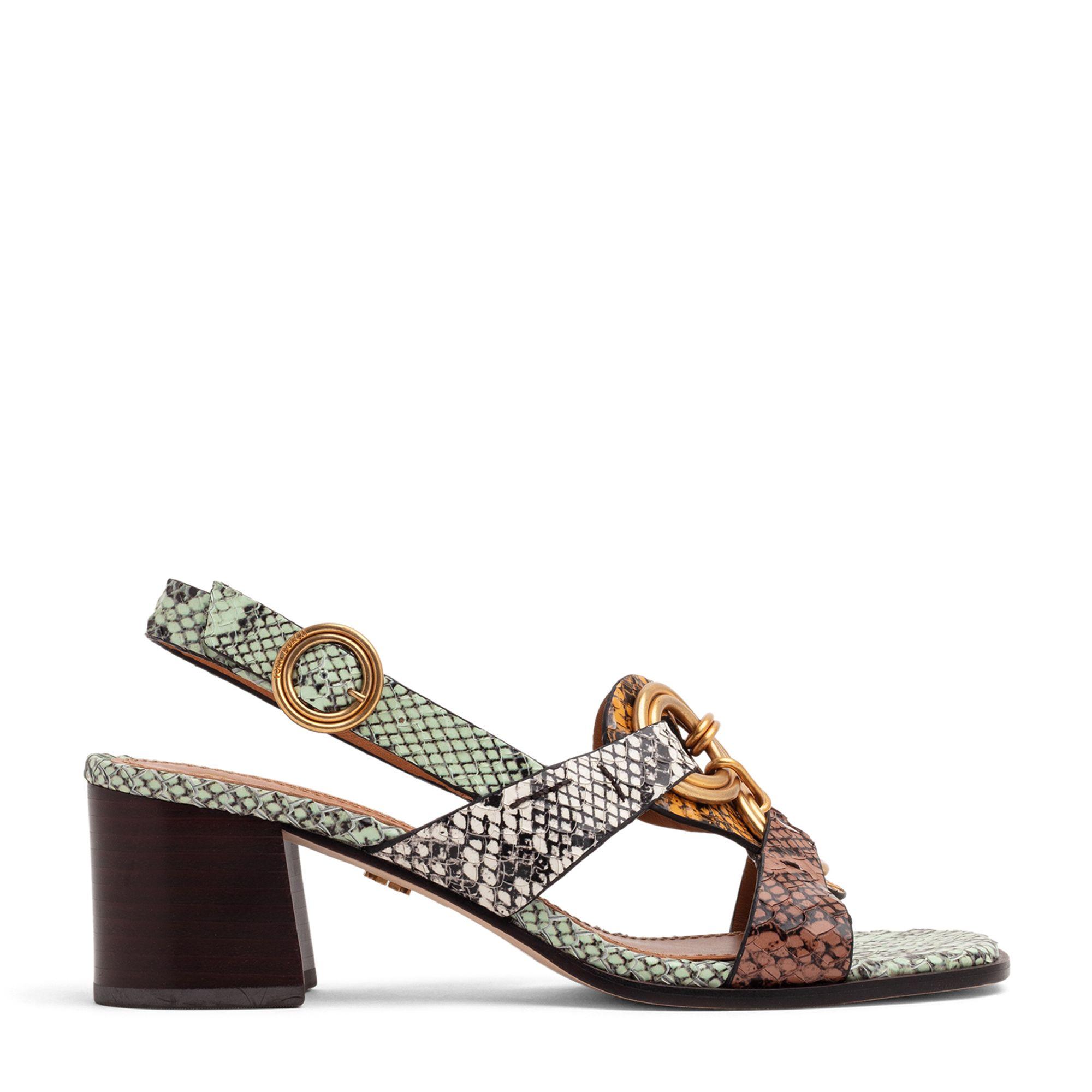 Ring mid-heel sandals