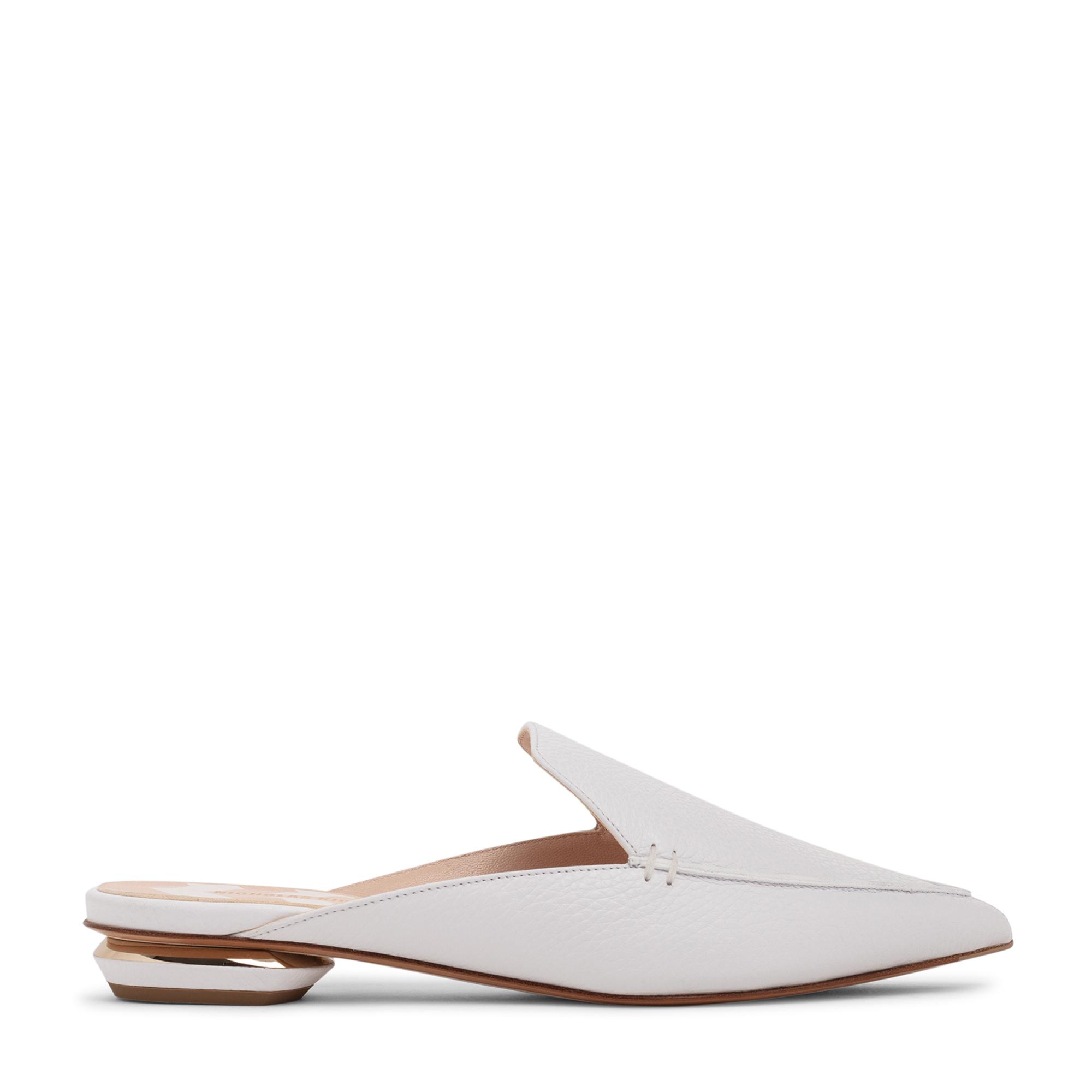 Beya leather flat mules