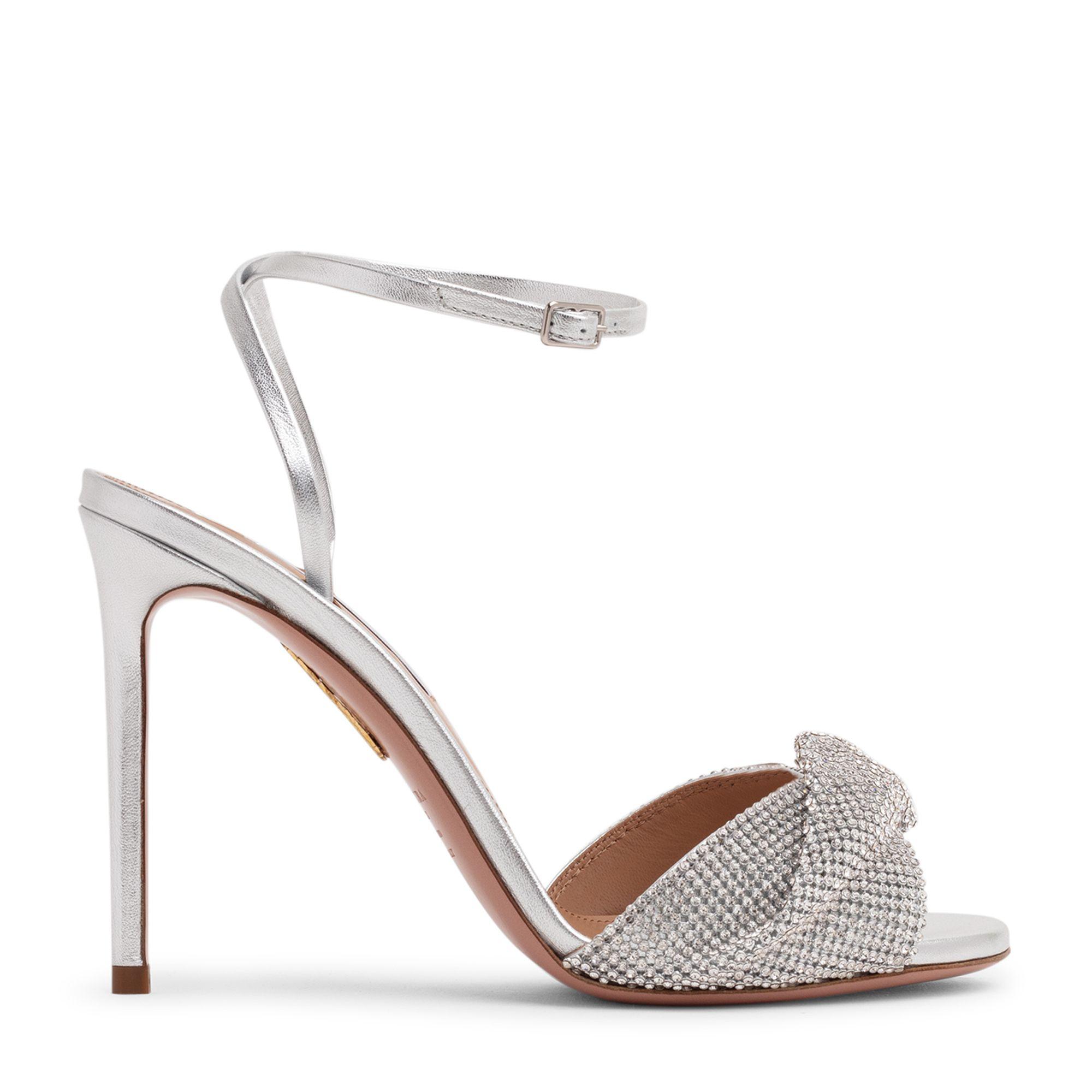 Crystal twist sandals