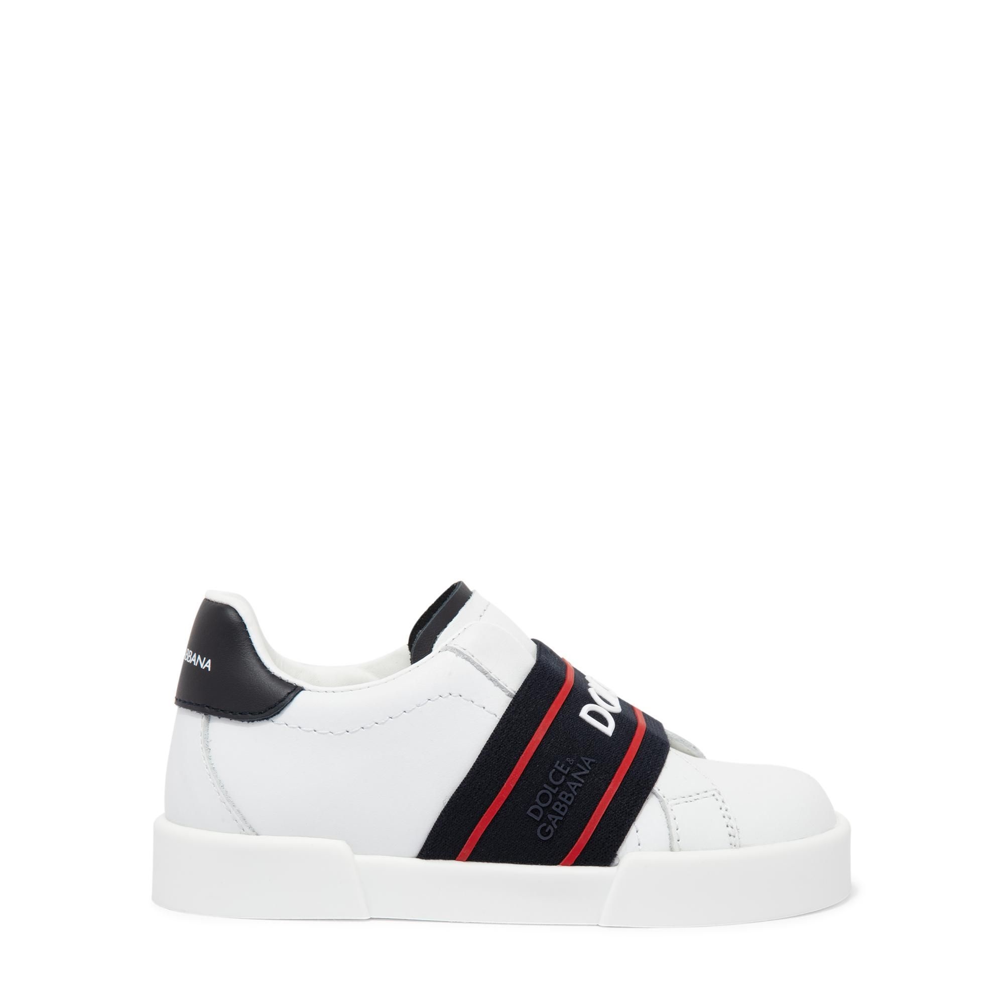 Calfskin portofino light sneakers with logo-detailed elastic