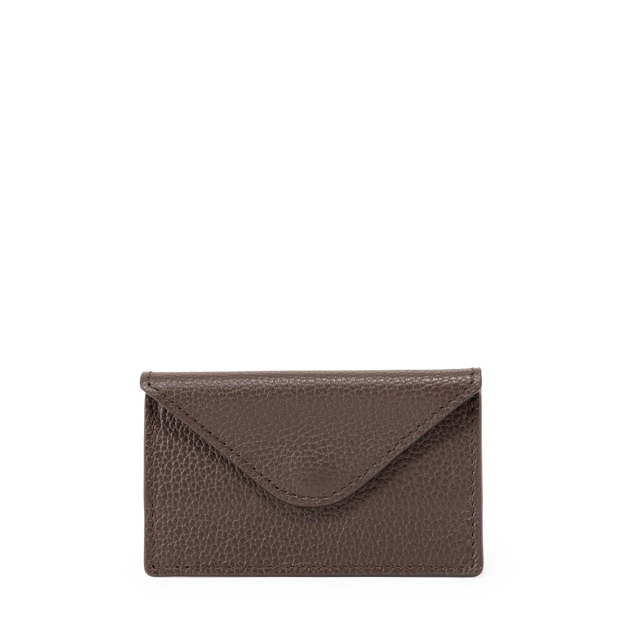 Leather envelope card holder